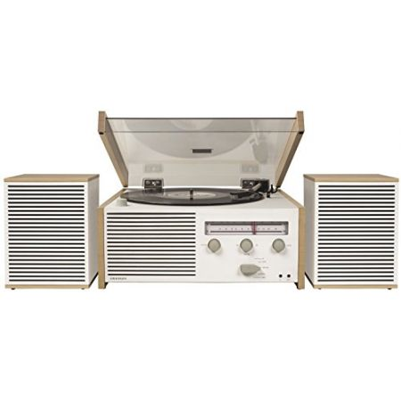 Crosley Switch II Belt-Drive Turntable with Bluetooth AmFM Radio Aux-in and Speakers PROD30002379, 상세 설명 참조0