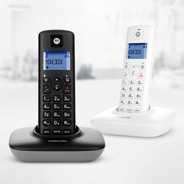 모토로라 무선전화기 T401A+ 블랙/화이트, 01. T401A+ 블랙