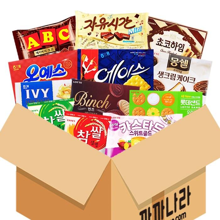 까까나라 과자 간식 랜덤 럭키박스 인기라면 20p 선물세트, 1box, 사무실용 럭키박스