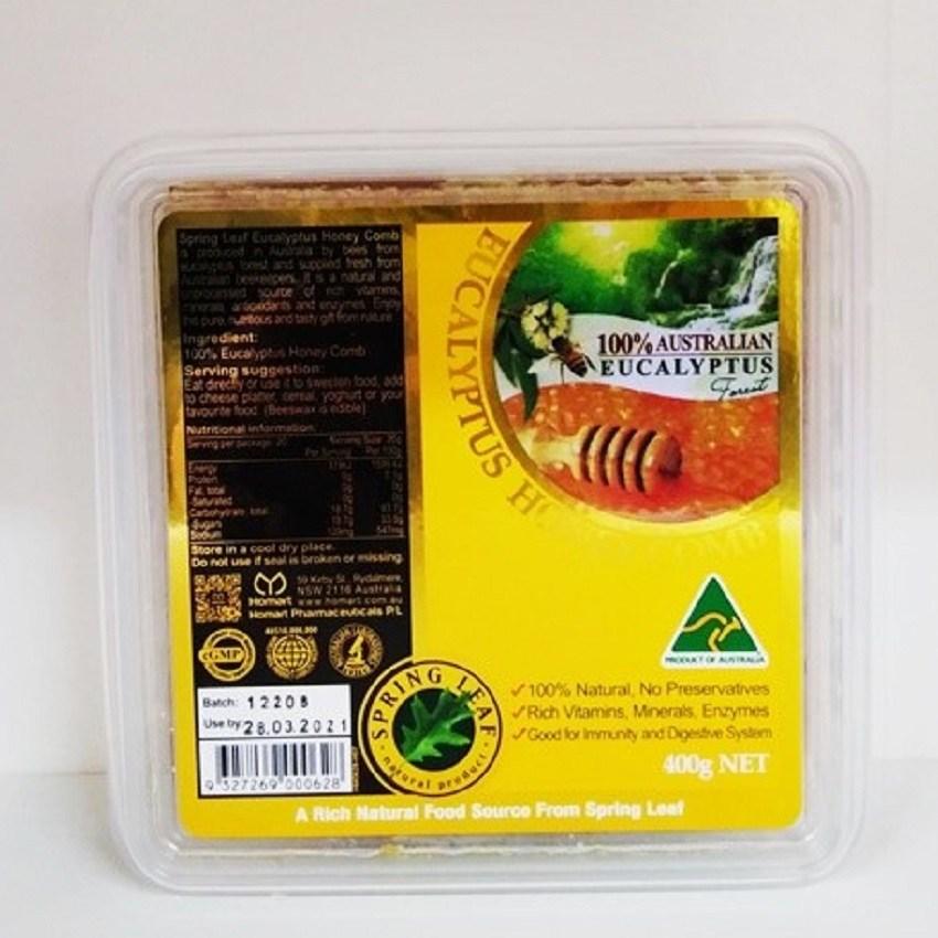 호주 스프링리프 100% 유칼립투스 꿀 허니콤 400g, 1개