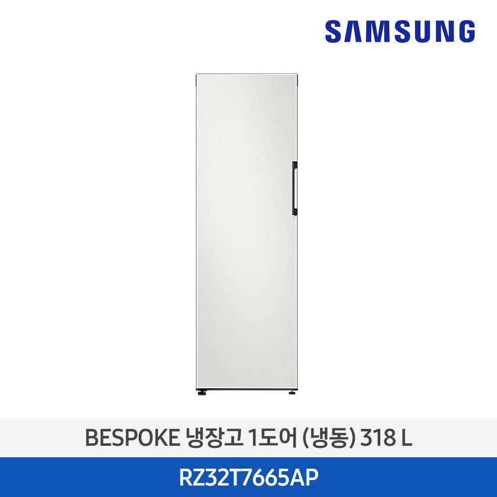 삼성 비스포크 1도어 318L 냉동고 RZ32T7665AP 스탠드 키친핏, 코타 차콜(RA-R23DAA05)