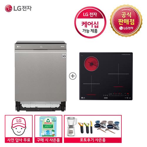 LG DIOS DUB22SA+BEY3GTU 식기세척기+전기레인지 세트