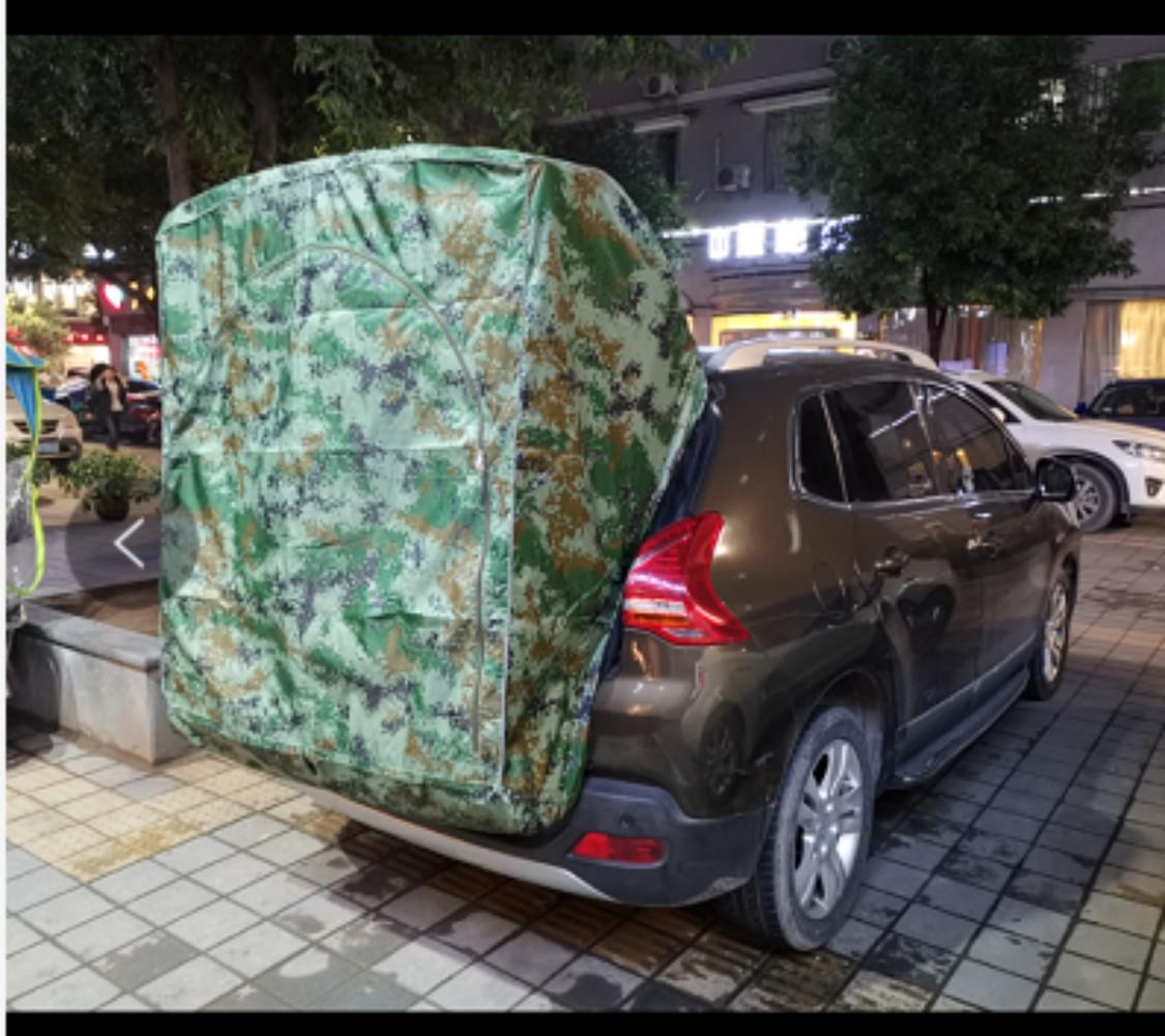 이효리 제주 속초 감성 캠핑 카박 도킹 차량 후방 연결 차박하기 좋은 차 텐트 쉘터 용품, 디지털 위장03-
