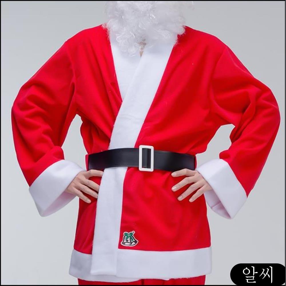 GD 코스프레 빅사이즈 산타 복 코스튬 크리스마스 파티 룩 남자 성인용 세트