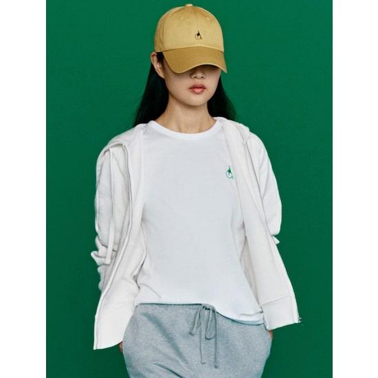 [GREEN BEANPOLE] 아이보리 솔리드 후드 집업 티셔츠 (BF1141N020)