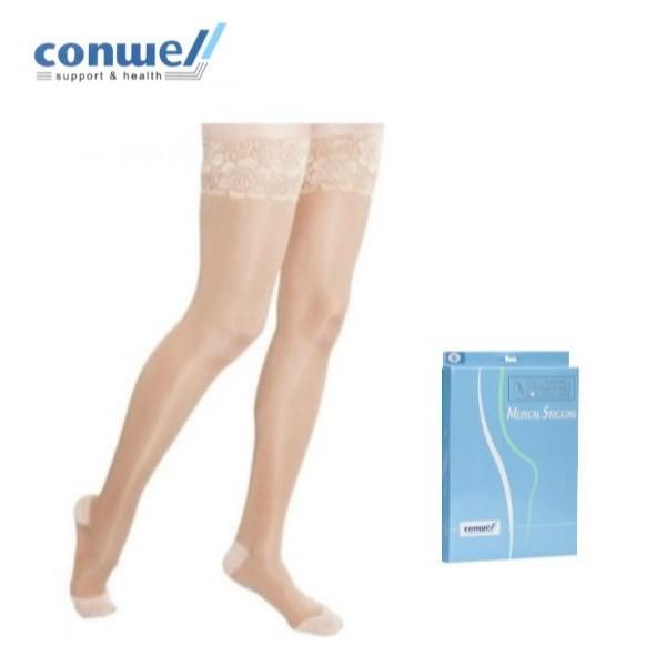 [콘웰] 의료용 압박스타킹 종아리 다리붓기 압박밴드 임산부 승무원 하지정맥류
