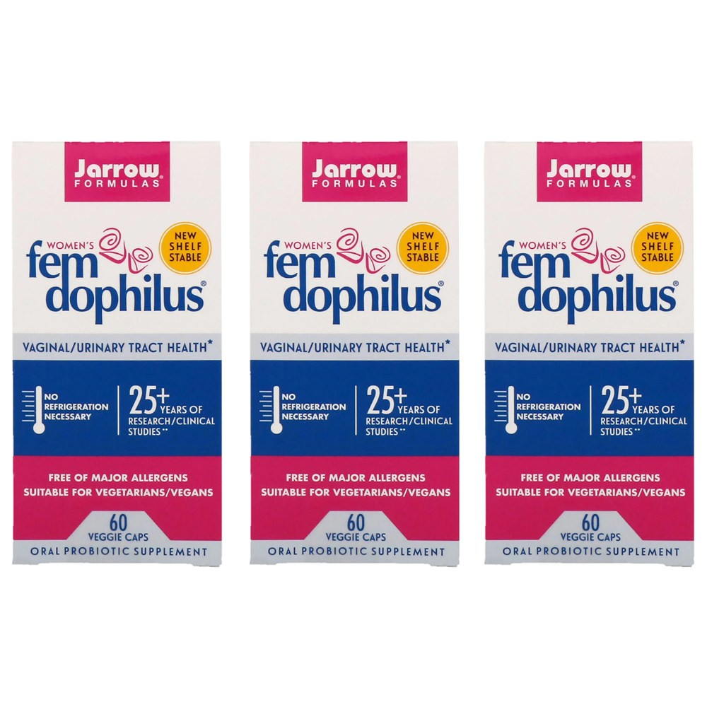 Jarrow Formulas 자로우 펨 도피러스 유산균 질건강 변비유산균 10억 60정 2+1(3개) 재로우우먼펨 자로우질유산균, 1개