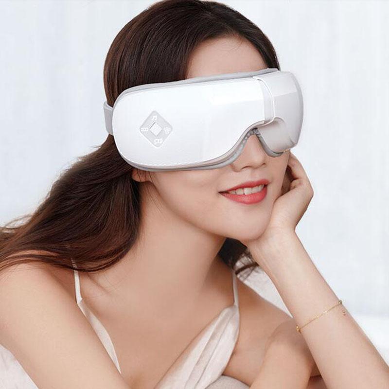 Leading 휴대용 안대 눈찜질기 가정용 눈 마사지기 온열 XF1631, 화이트