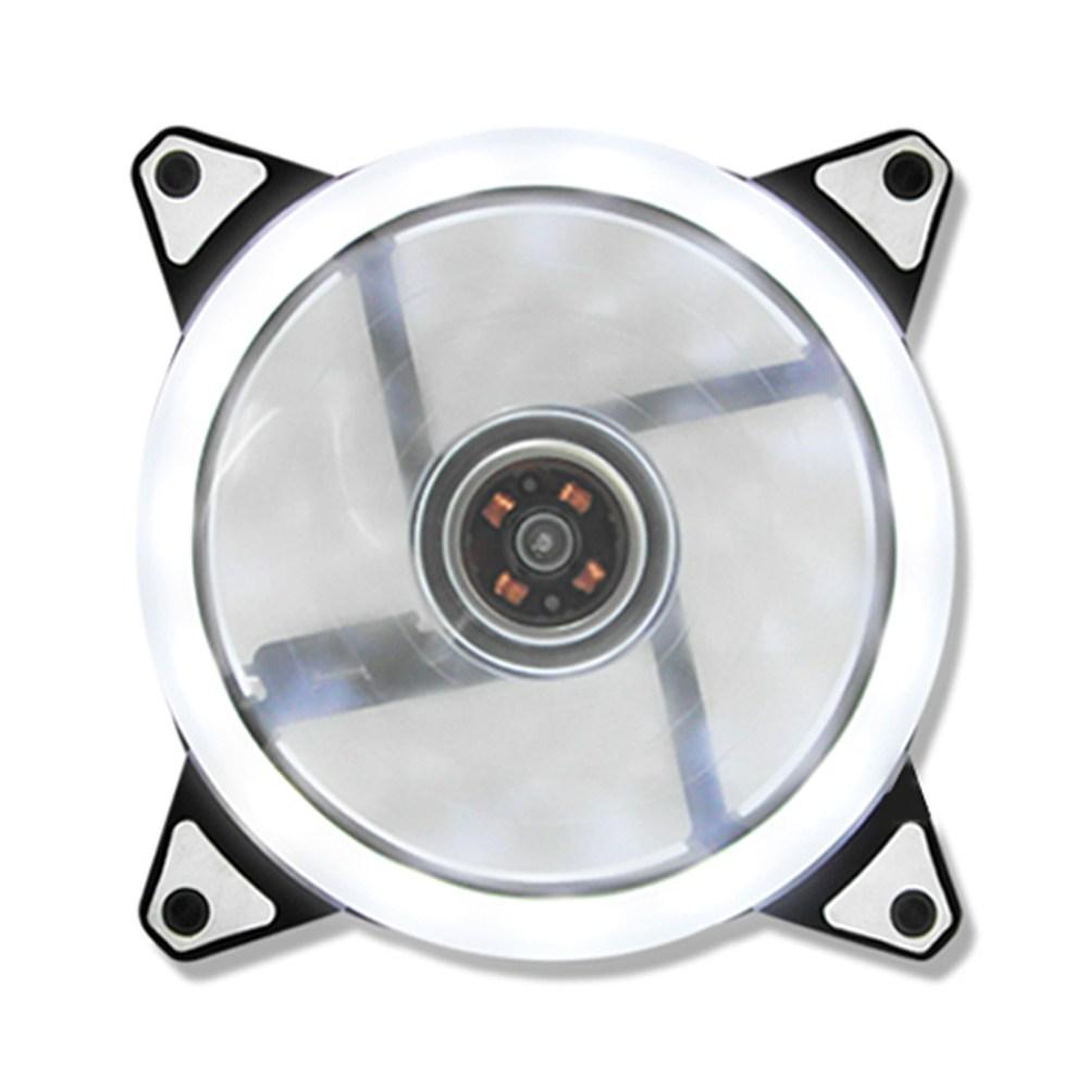 컴퓨터 120MM 화이트 15 LED PC 쿨러 저소음 냉각 팬, 단일상품