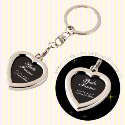 [텐바이텐] 심플렛 하트 사진액자 열쇠고리, 타원(oval)