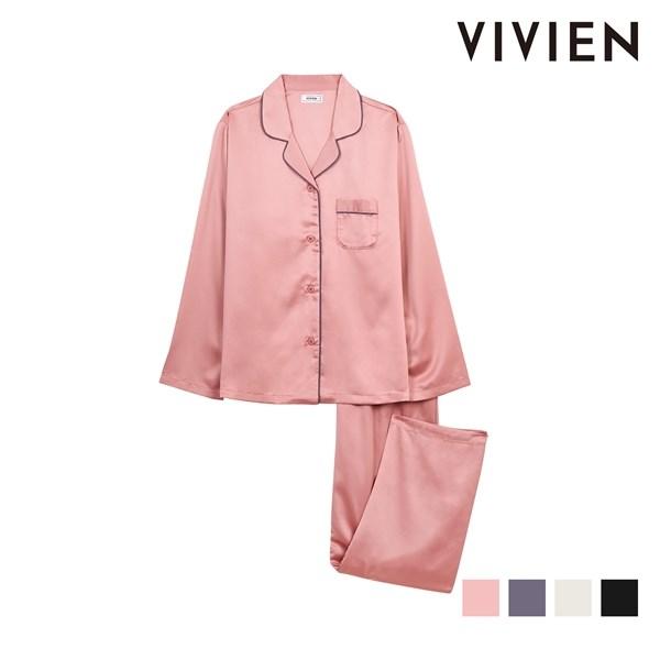 비비안 VIVIEN 여자속옷 실키샤무즈 기본 9부 여성파자마 WP510