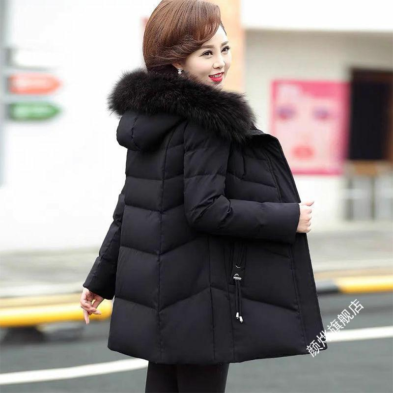 바디영 엄마 겨울 가을 옷 솜붙이 중노년층 여성 하프기장 면