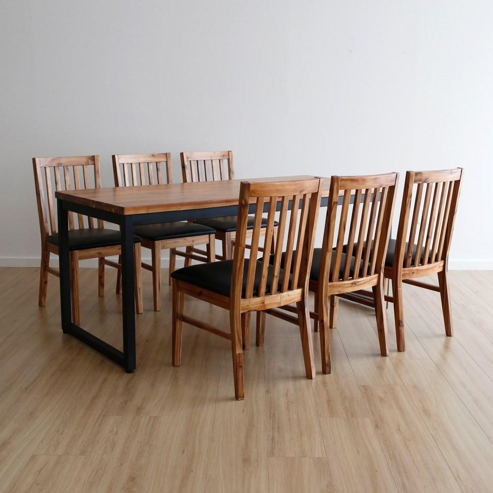 라미에스 키첸 6인식탁 원목 식탁세트, 06.키첸6인식탁1+의자6