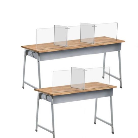 매니저 비대면 식당 교실 책상 투명 위생 칸막이 2인 3인용 T형 아크릴 가림막 비말감염 예방, 2인용