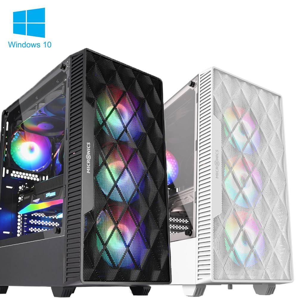 샵PC 게이밍 컴퓨터 본체 조립PC 라이젠 인텔 배그 오딘 롤 게임용 데스크탑, 게이밍 본체 - 01, [MICRONICS] M60 매쉬 블랙