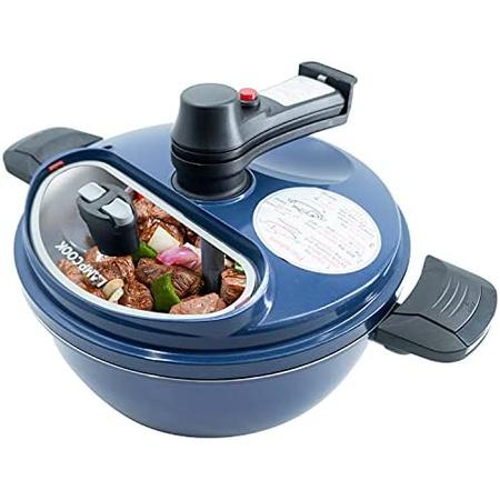 LAMPCOOK 요리 용 자동 냄비 교반기 [핸드 프리 요리 냄비] 붙지 않는 프라이팬 회전 칼날 기름 배출, 파란색_One Size, 상세 설명 참조0, 파란색 (POP 5793025163)