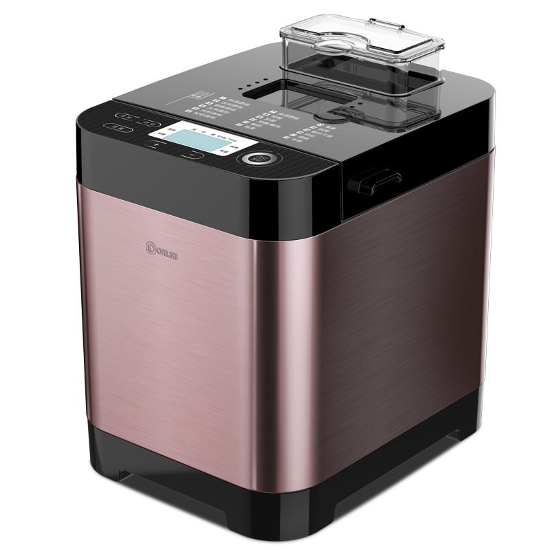 제빵기 Donlim/가정용 소형 스마트 전자동 국다용도 아침기계 DLT06SK, T01-커피색