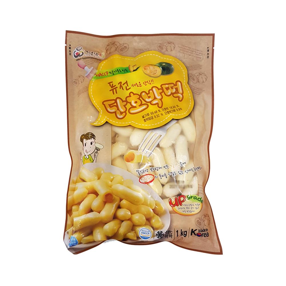 떡안애 퓨전단호박떡 1kg 쫄깃쌀떡 단호박풍미 쌀떡, 1개