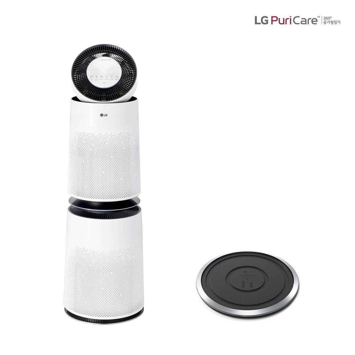 [신세계TV쇼핑][LG](+정품 무빙휠) 퓨리케어 360 공기청정기 듀얼 AS280DWFC (91제곱미터/H13헤파필터)