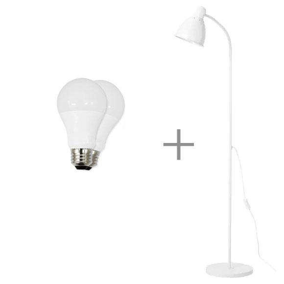 이케아 플로어스탠드 레르스타 노트 홀뫼, LERSTA화이트+LED전구2개
