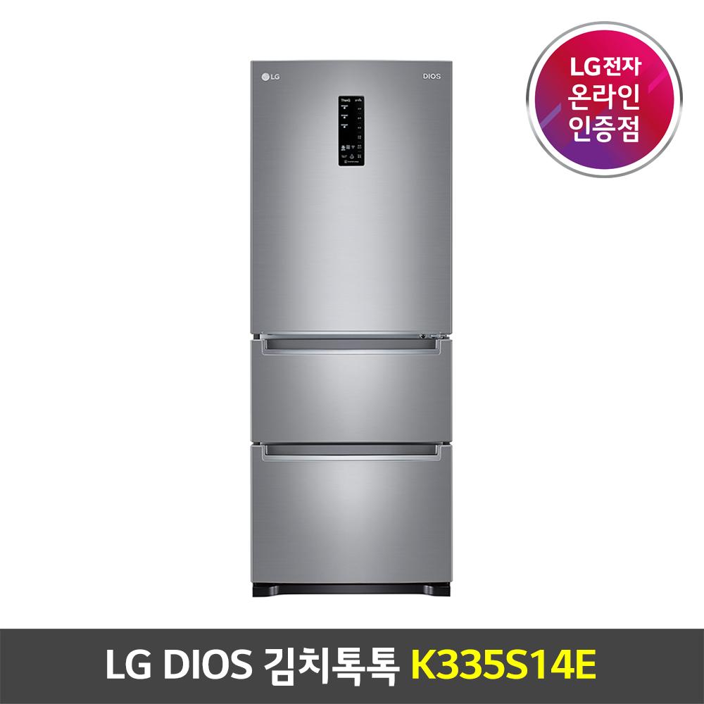 LG DIOS 김치톡톡 스탠드형 K335S14E 퓨어 327L 1등급