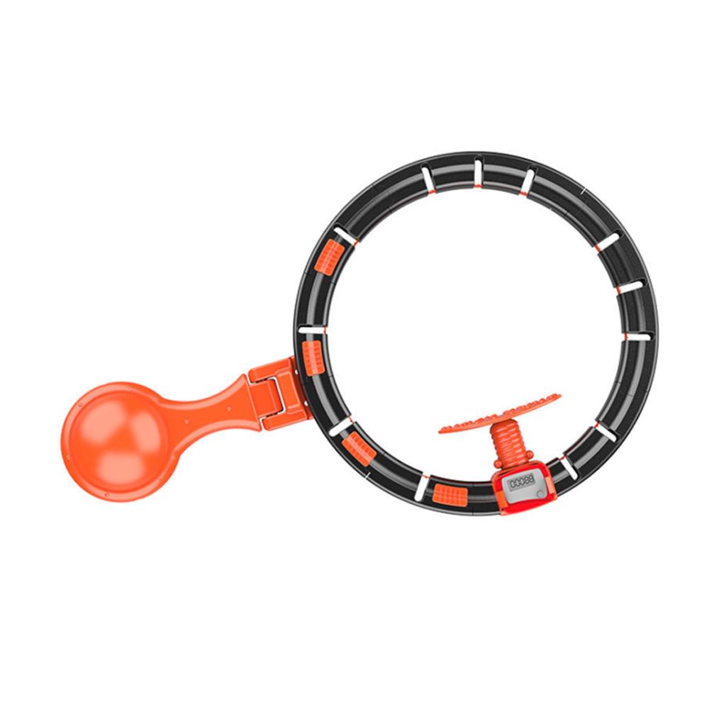신형 스마트 훌라후프 다이어트 홈트 운동 기구 뱃살, 원형추(오렌지)