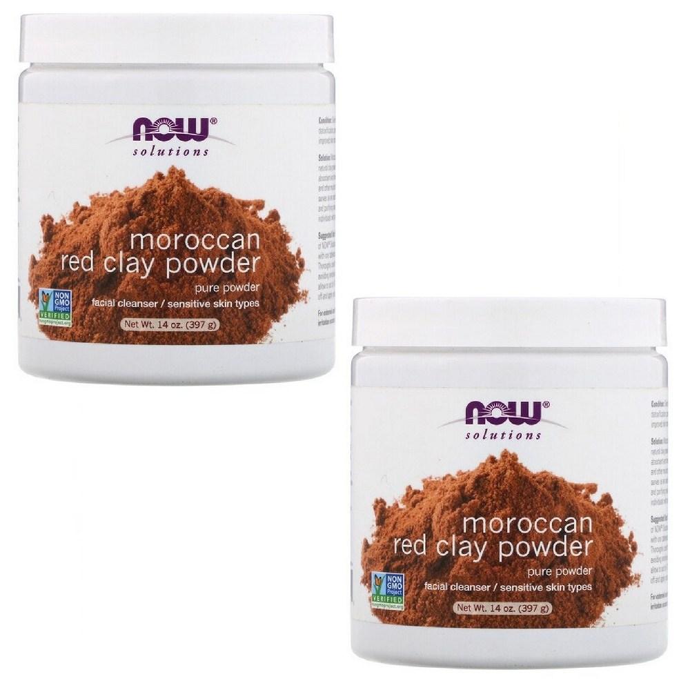 나우푸드 솔루션즈 모로코 레드 클레이 파우더 Moroccan Red Clay Powder 14oz(397g) 2팩, 1개, 1개