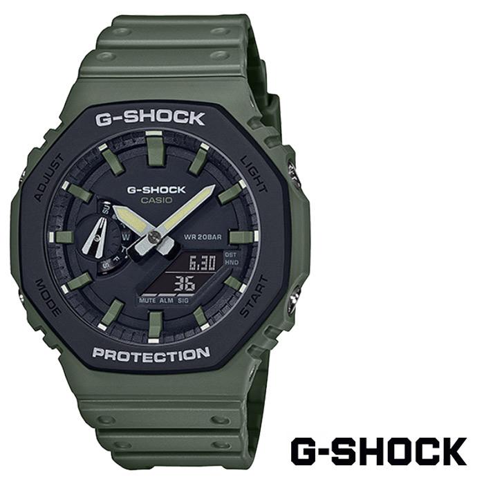 [G-SHOCK] 지샥 GA-2110SU-3A 지얄오크 카본코어가드 밀리터리 우레탄 손목시계