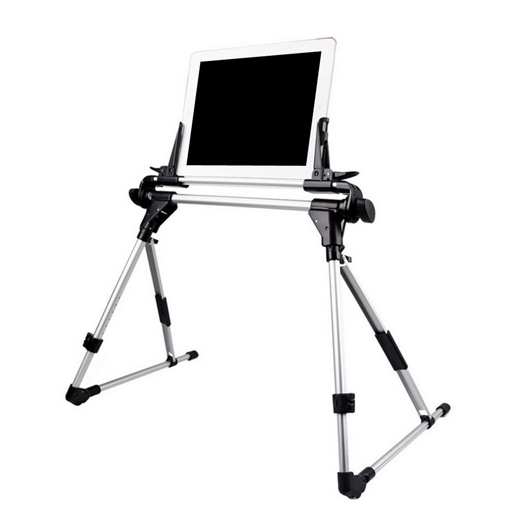 Zeyuan 2in1 Foldable지면 셀룰라 전화 iPad를위한 탁상용 대 침대 정제 PC 홀더 산, 찢어진 조각, \