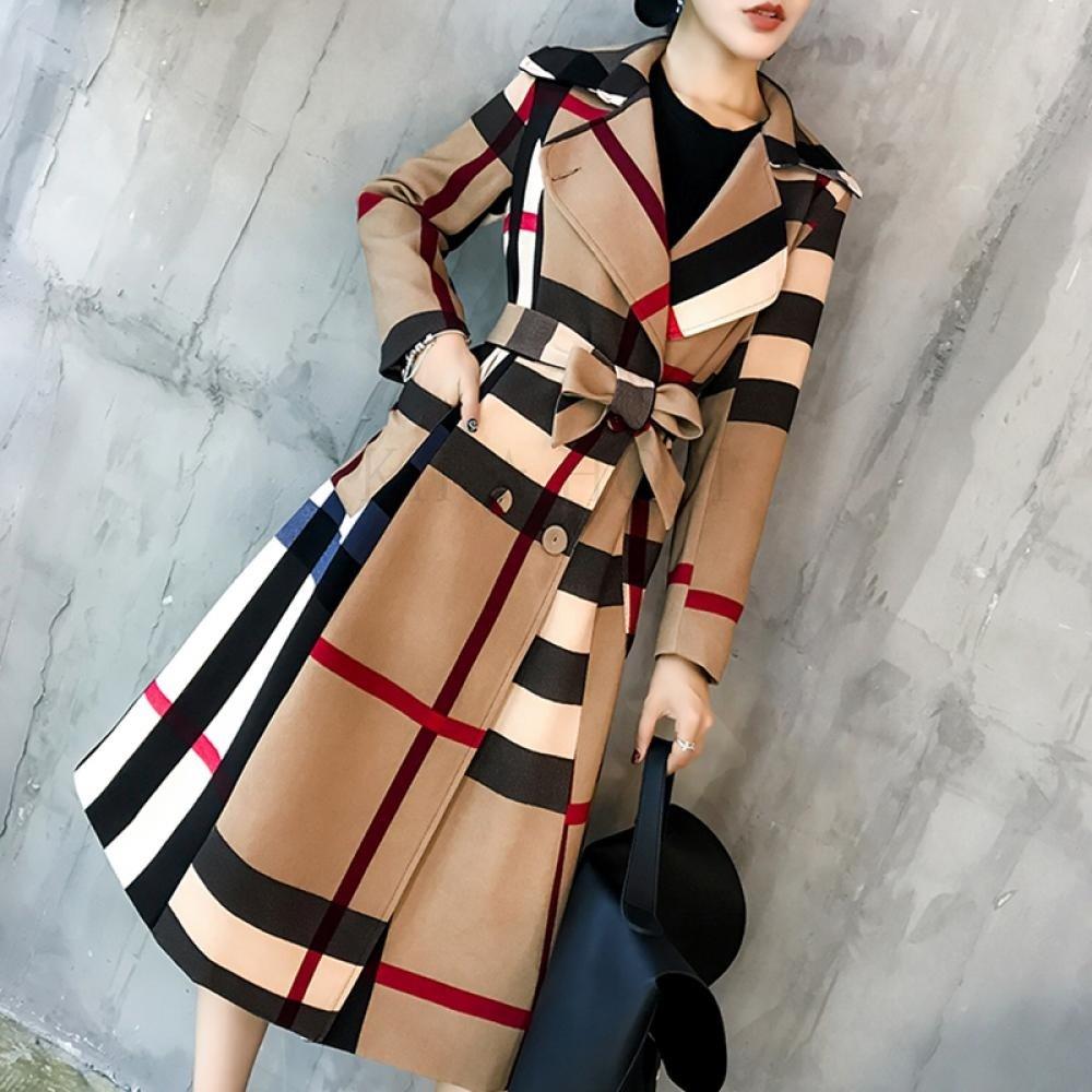kirahosi 여성 트렌치 빅사이즈 코트 자켓 P6risi +덧신증정