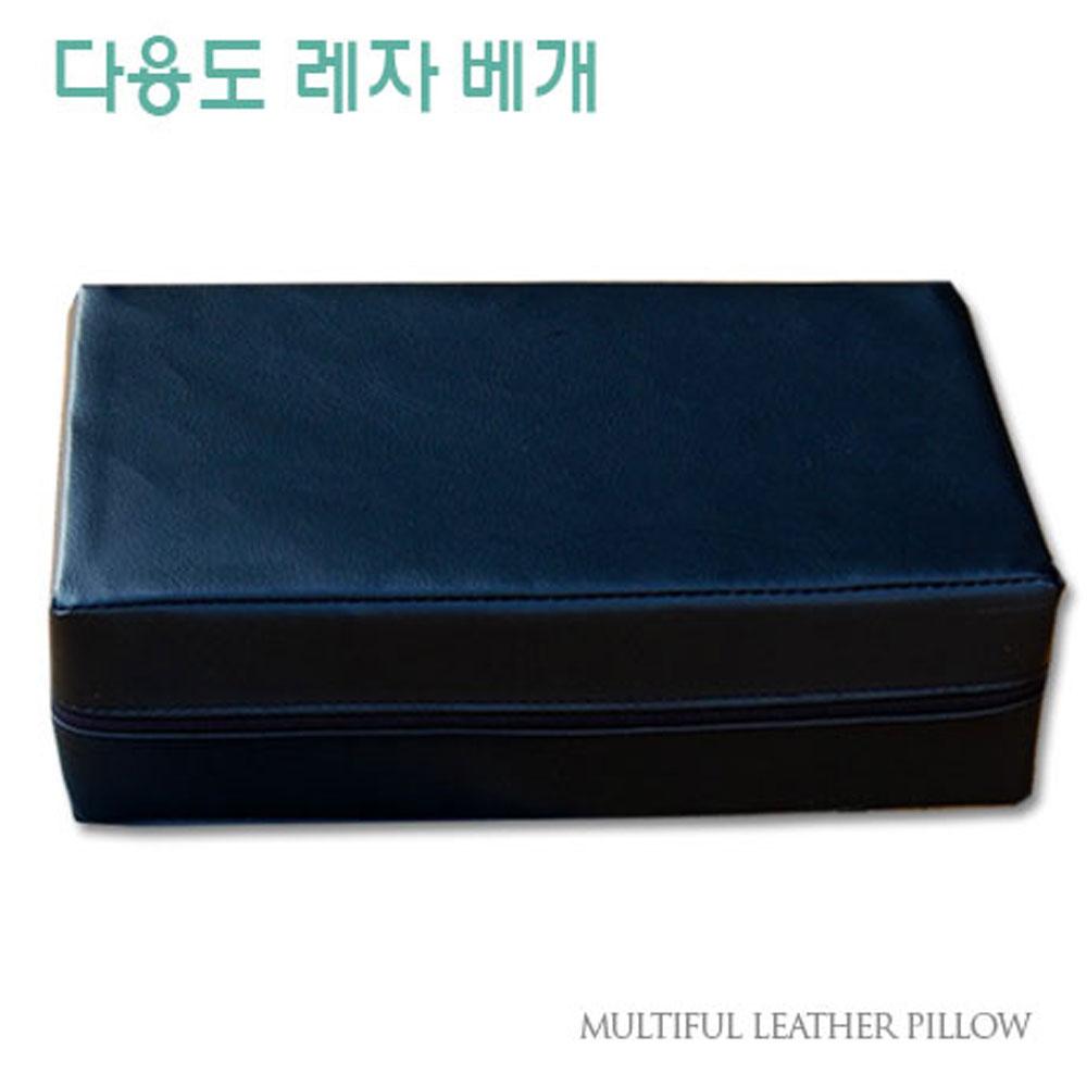 방수 레자베개 찜질방 사우나 병원 수련회 타투, 블랙 (POP 5197213230)