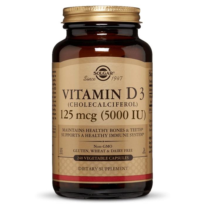 솔가 비타민 D3 5000IU 베지터블 캡슐, 240개입, 1개