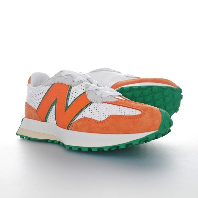 뉴발란스 상호몰 NB 커플 운동화 MS327 MS327CBB 오렌지 White Green