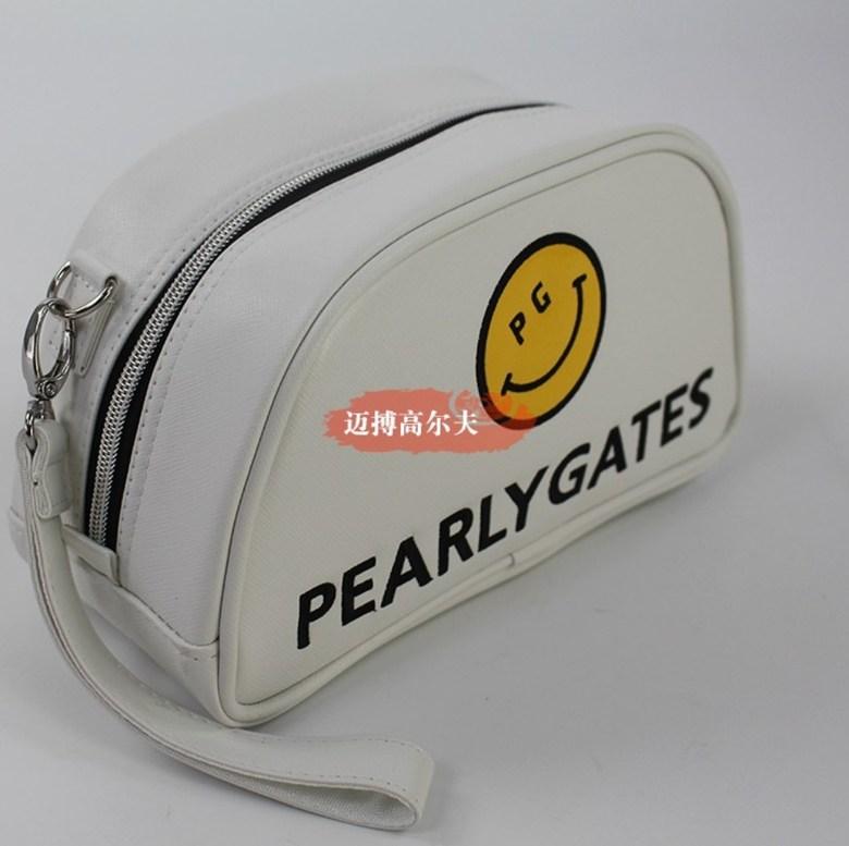 파리게이츠 볼 파우치 주머니 pg 골프 클러치 가방 여성 핸드백 악세사리 필드 패션 휴대용, 하얀