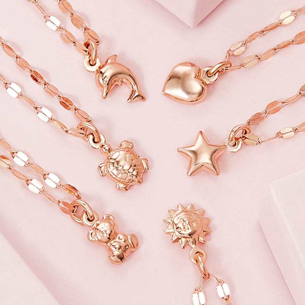 [선물추천] 1+1 14k 쁘띠 여자목걸이 금목걸이
