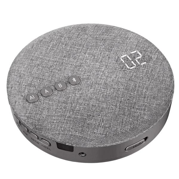 CD 플레이어 기능 레트로 휴대용 블루투스 복고풍 미니멀 선물, 회색 DVD 플레이어 (POP 5440763998)