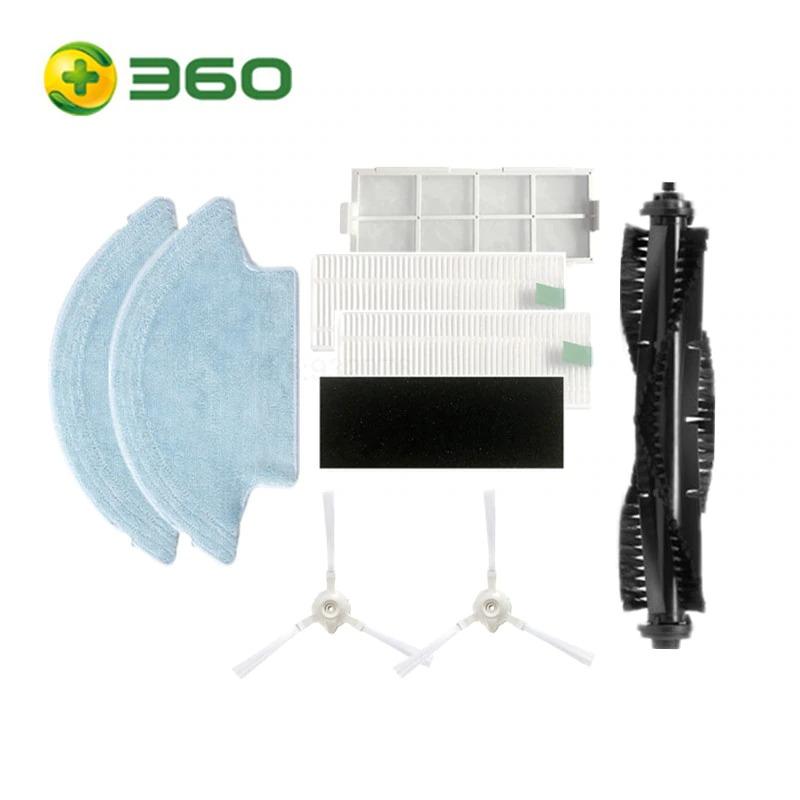 치후 360 S6 로봇청소기 정품 부품 소모품 교체용 사이드 브러쉬 필터 걸레, 1개, 풀세트