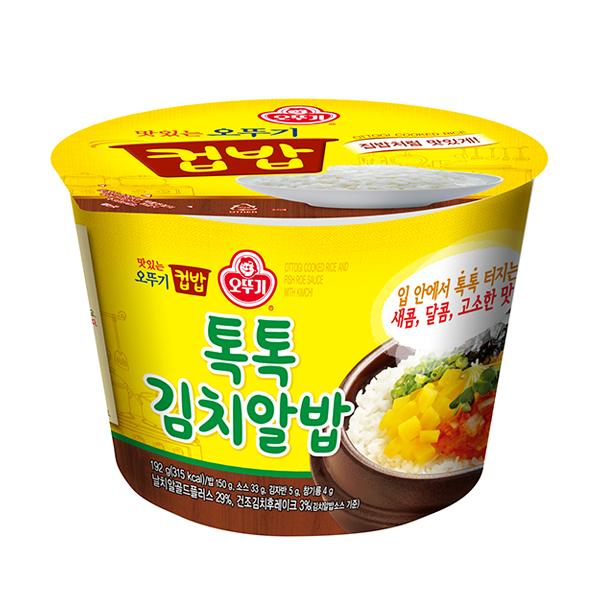 오뚜기 컵밥 톡톡김치알밥 222g x 12개 한박스, 톡톡김치알밥 222gx12개
