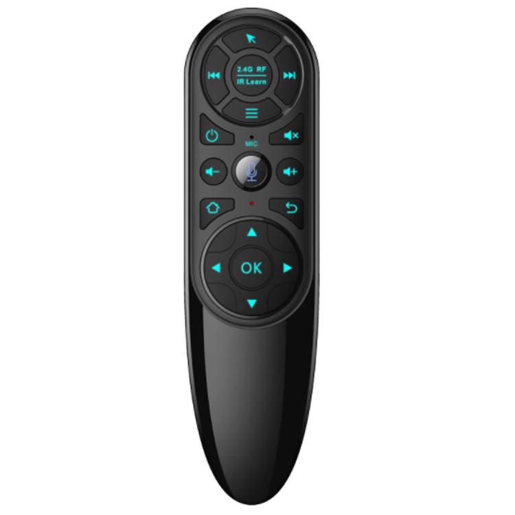 Q6 스마트 음성 원격 제어 USB 2.4G 무선 공기 마우스 자이로 스코프 TV 리모컨 지원 안드로이드 승리 시스템 지원, 하나, 검정 (POP 5757410996)