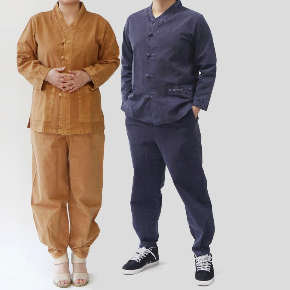 매듭우리옷 MC201_면 V넥 스테치 저고리+바지