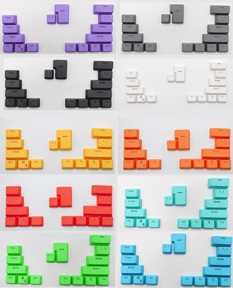 키캡 DIY 프로필 PBT 기계식 키보드 체리 스위치 키보드 용 다채로운 기능 키보드키캡, 큰 키캡, 푸른