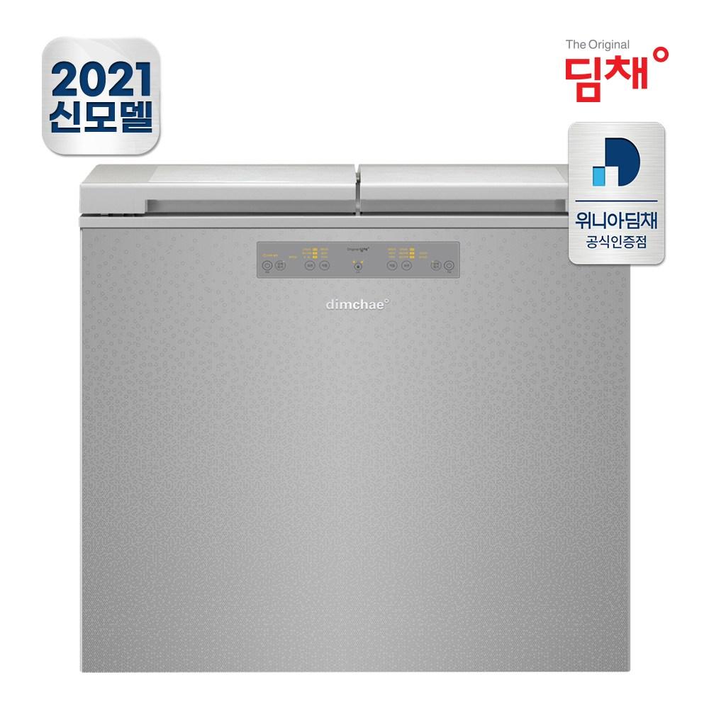 공식판매 21년형 딤채 뚜껑형 김치냉장고 EDL18EFWRSS (174L/루센트실버/2룸)