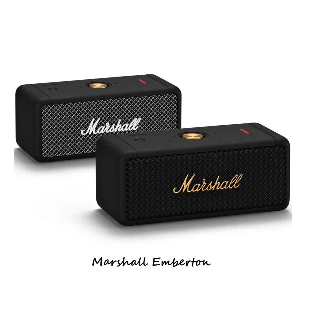 마샬 엠버튼 앰버튼 Marshall Emberton 블랙 브래스 블루투스 스피커, 블랙/브래스
