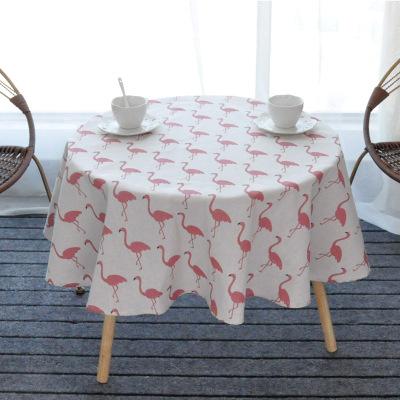 식탁보 방수 북유럽스타일의 일본식 참신한 원형 테이블보 노란색 탁상보 체크무늬 책상 천다기 수건, T17-시라토리, C01-직경 100원형(방수)