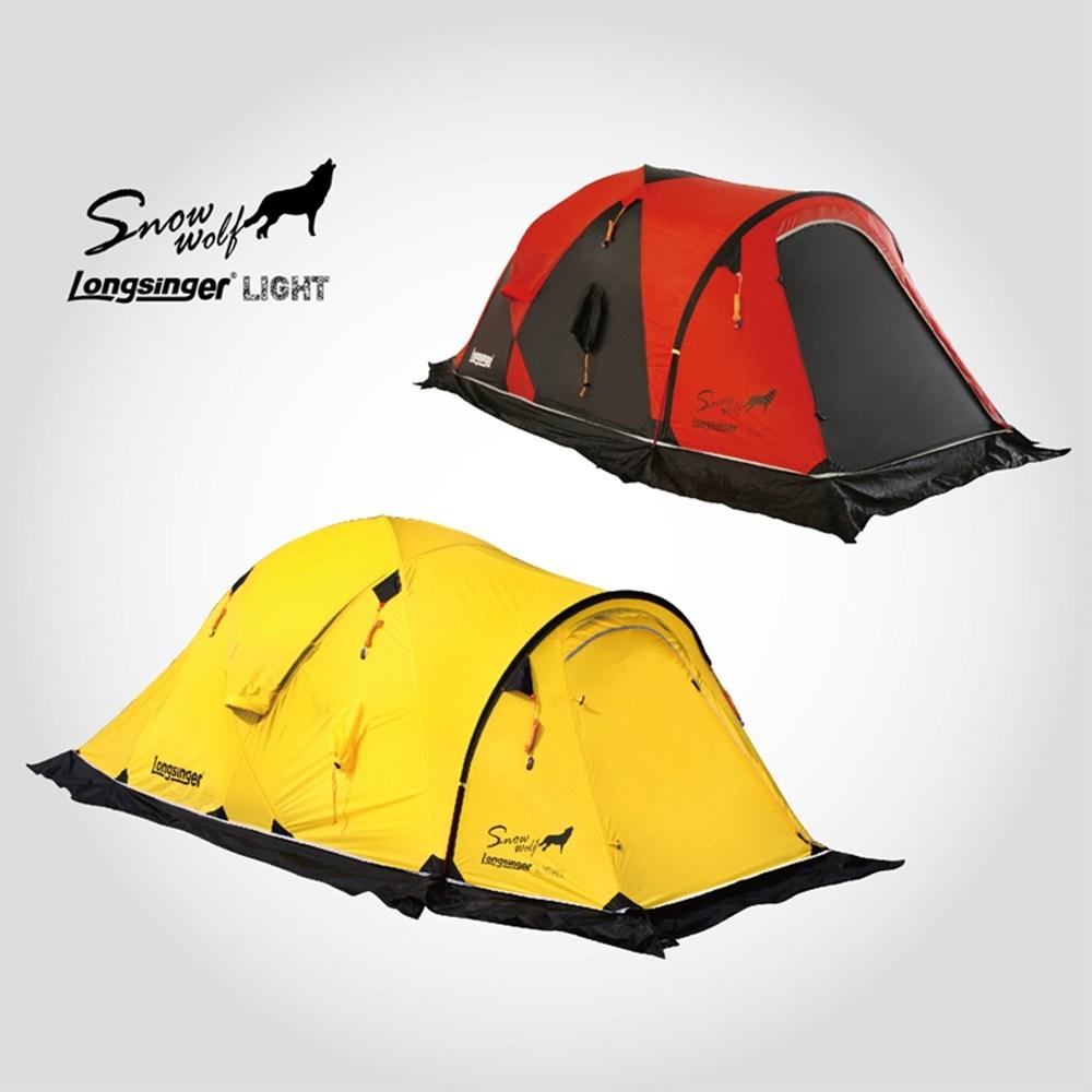 롱싱어 초경량 2인 방수 이중겹 동계 텐트, 옐로우