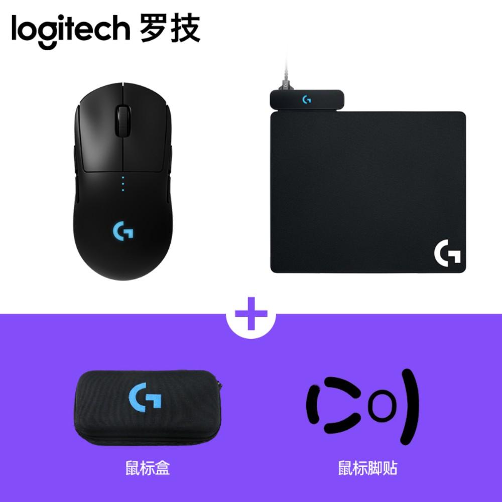 로지텍 G PRO 무선 게이밍 게임용 마우스 M-R0070, 표준, G PRO 마우스 + 충전식 마우스 패드 신품