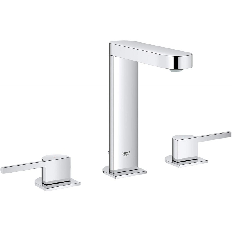 Grohe 20302003 Plus 8 ″ Widespread Two-Handle 욕실 수전 L-Size Starlight Chrome, 1