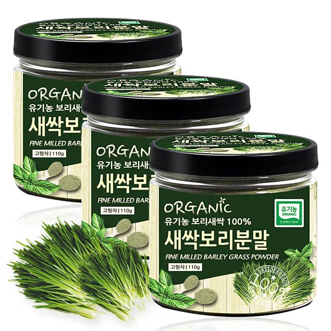 푸른들판 유기농 새싹보리 분말, 110g, 3통