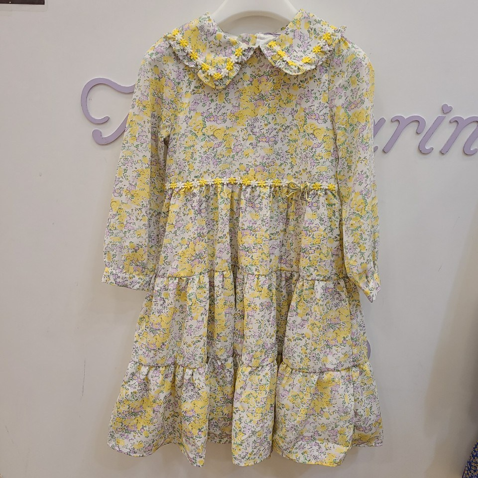 모다까리나 옐로우플라워롱원피스70%할인 잔꽃무늬 노랑 원피스가 귀엽고 편하고 이뻐요