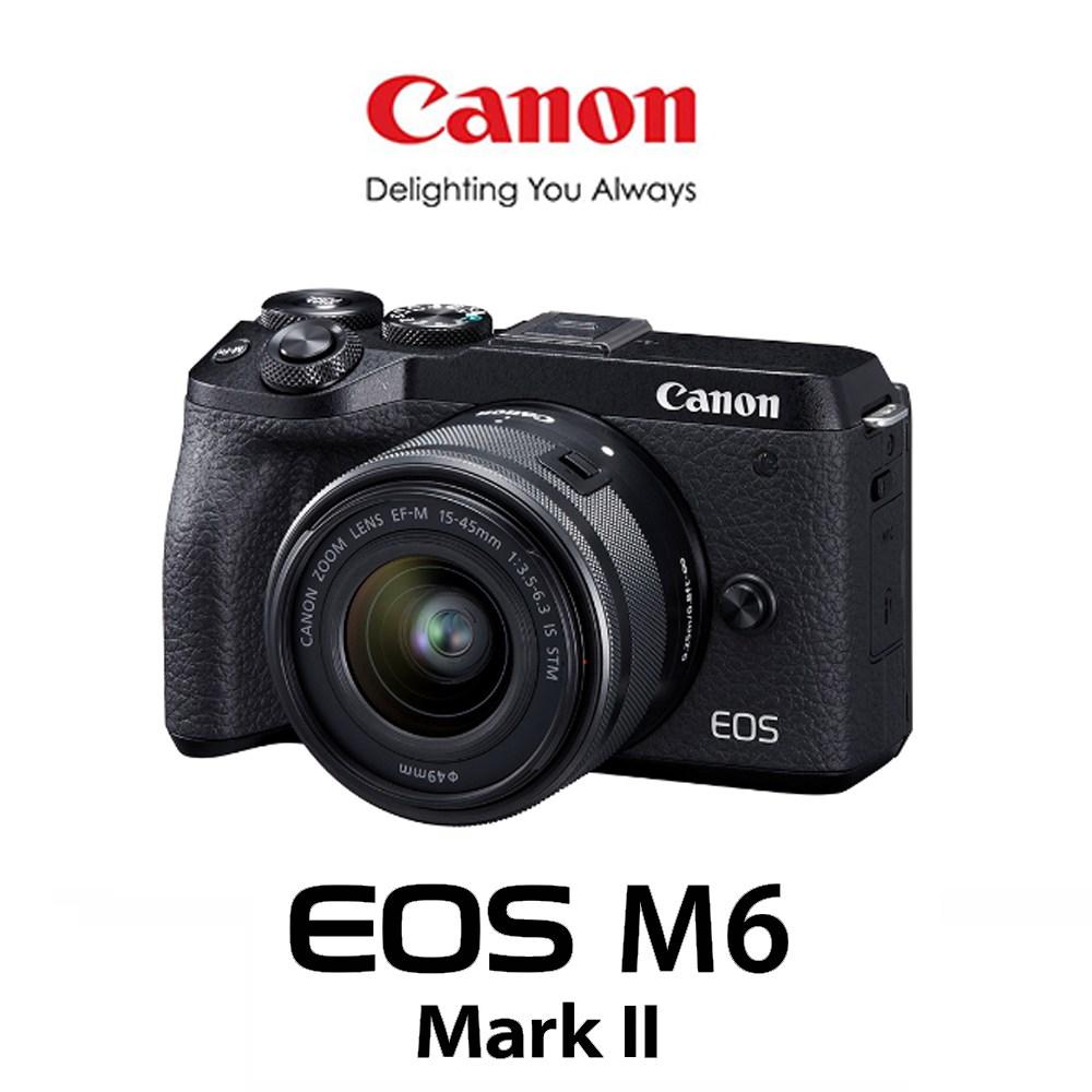 캐논 EOS M6 MARK ll 15-45mm KIT + 전용LCD보호필름 메모리패키지 미러리스카메라, 64G패키지